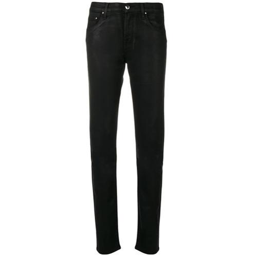 Черные кожаные джинсы скинни от Jacob Cohen