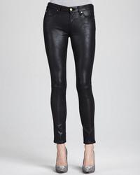 Черные кожаные джинсы