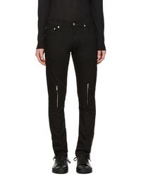 Мужские черные кожаные джинсы от Alexander McQueen