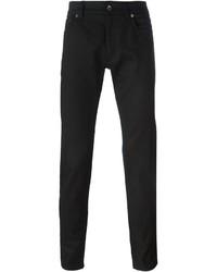 Мужские черные кожаные джинсы от Dolce & Gabbana