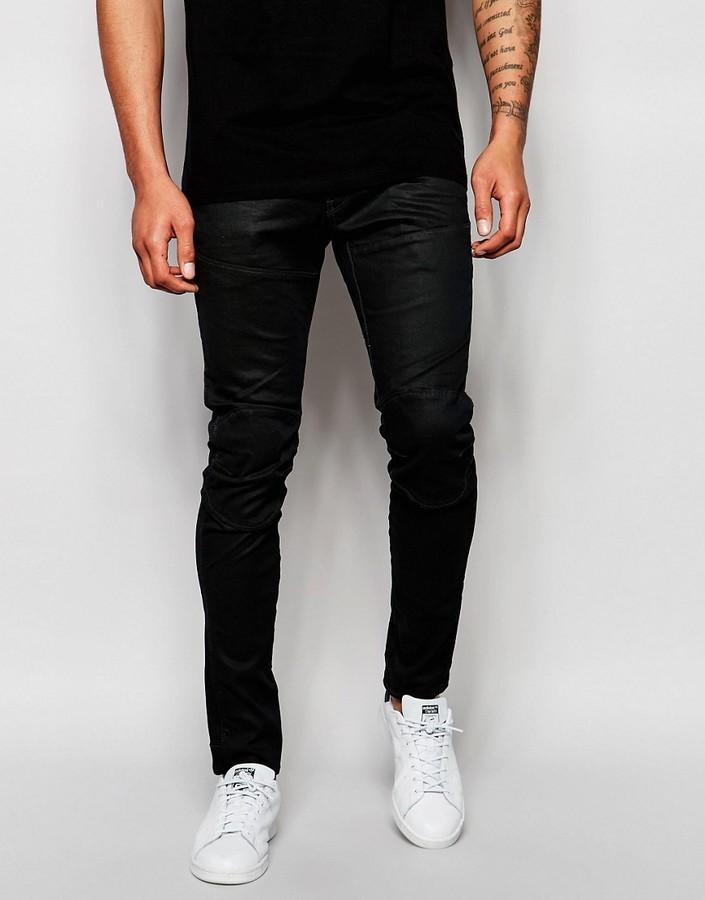 635f2ffa7d0f 9 532 руб., Мужские черные кожаные джинсы от G Star