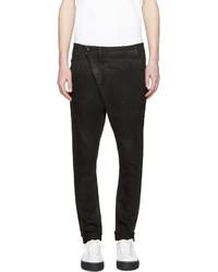 Мужские черные кожаные джинсы от R 13