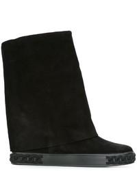 Женские черные кожаные кеды от Casadei