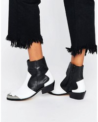 Женские черные кожаные ковбойские сапоги от Asos