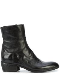 Женские черные кожаные ковбойские сапоги от Fauzian Jeunesse'