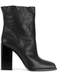 Женские черные кожаные ковбойские сапоги от Saint Laurent