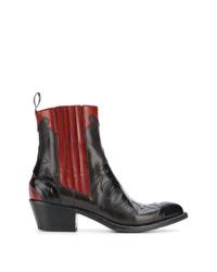 Женские черные кожаные ковбойские сапоги от Sartore