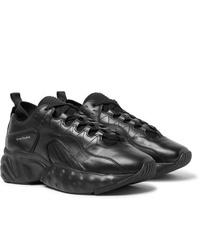 Мужские черные кожаные кроссовки от Acne Studios
