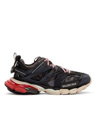 Мужские черные кожаные кроссовки от Balenciaga