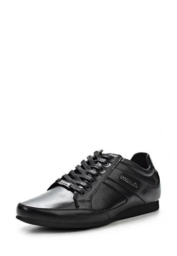 Мужские черные кожаные кроссовки от BambooA