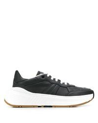 Мужские черные кожаные кроссовки от Bottega Veneta