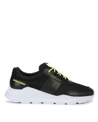 Мужские черные кожаные кроссовки от Daniel Patrick