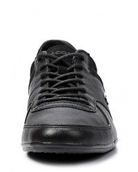 ... Мужские черные кожаные кроссовки от Lacoste 7c54acbd2ae4f