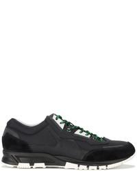Мужские черные кожаные кроссовки от Lanvin
