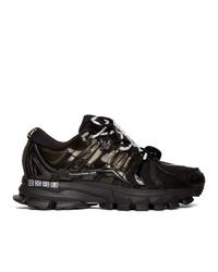 Мужские черные кожаные кроссовки от Li-Ning
