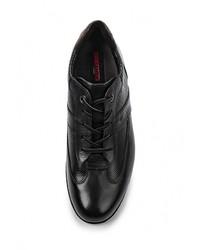 Мужские черные кожаные кроссовки от Lloyd