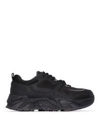 Мужские черные кожаные кроссовки от Marcelo Burlon County of Milan