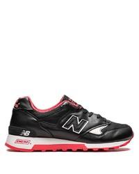 Мужские черные кожаные кроссовки от New Balance