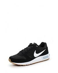 Мужские черные кожаные кроссовки от Nike