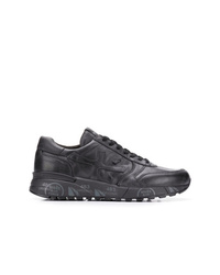 Мужские черные кожаные кроссовки от Premiata