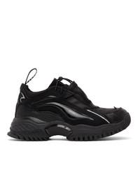 Мужские черные кожаные кроссовки от Random Identities