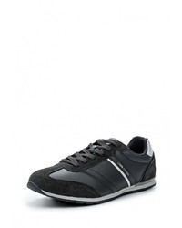 Мужские черные кожаные кроссовки от Strobbs