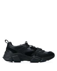 Мужские черные кожаные кроссовки от Tommy Hilfiger