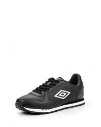 Мужские черные кожаные кроссовки от Umbro
