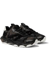 Мужские черные кожаные кроссовки от Valentino