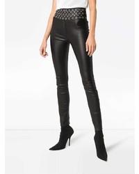 Черные кожаные леггинсы от Sprwmn