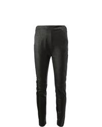 Черные кожаные леггинсы от Ilaria Nistri