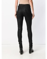 Черные кожаные леггинсы от Isabel Benenato