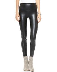 Черные кожаные леггинсы от Spanx