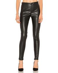 Женские черные кожаные леггинсы от Velvet by Graham & Spencer