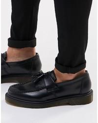 Черные кожаные лоферы с кисточками от Dr. Martens