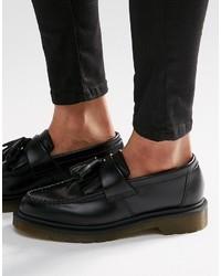 Женские черные кожаные лоферы с кисточками от Dr. Martens