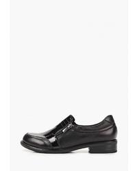 Женские черные кожаные лоферы от Alessio Nesca