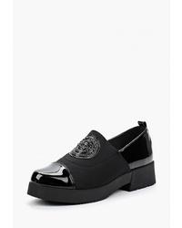 Женские черные кожаные лоферы от Chezoliny