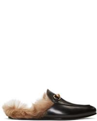 Мужские черные кожаные лоферы от Gucci
