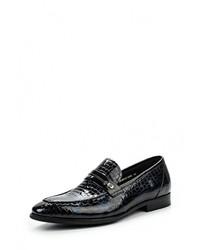 Мужские черные кожаные лоферы от Guido Grozzi