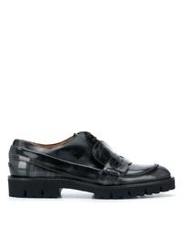 Мужские черные кожаные лоферы от Maison Margiela