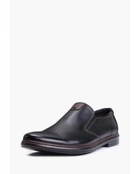 Мужские черные кожаные лоферы от T.Taccardi