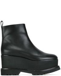 Женские черные кожаные массивные ботильоны от Givenchy