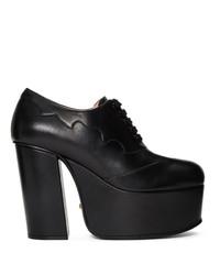 Черные кожаные массивные туфли от Gucci