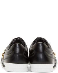 51 333 руб., Мужские черные кожаные низкие кеды от Versace 999f7881369