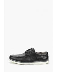 Мужские черные кожаные низкие кеды от M.Shoes