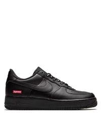 Мужские черные кожаные низкие кеды от Nike