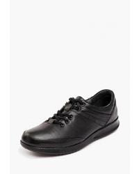 Мужские черные кожаные низкие кеды от Pierre Cardin