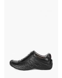 Мужские черные кожаные низкие кеды от S-tep