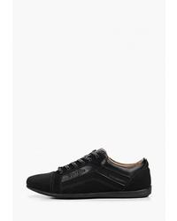 Мужские черные кожаные низкие кеды от T.Taccardi